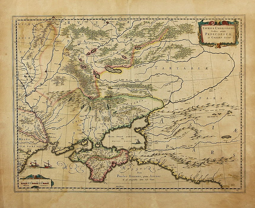 Taurica Chersonesus Map Of The Crimea 1595 774613