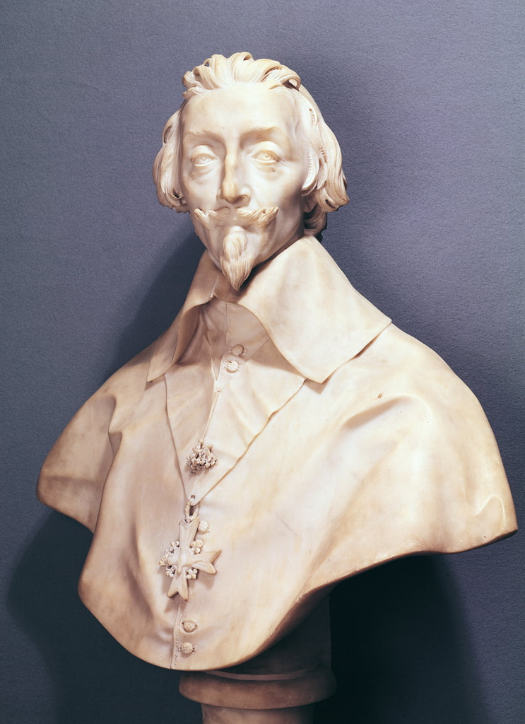 Bust of Cardinal Richelieu (1585-1642) c.1642 (marble) by Gian Lorenzo Bernini