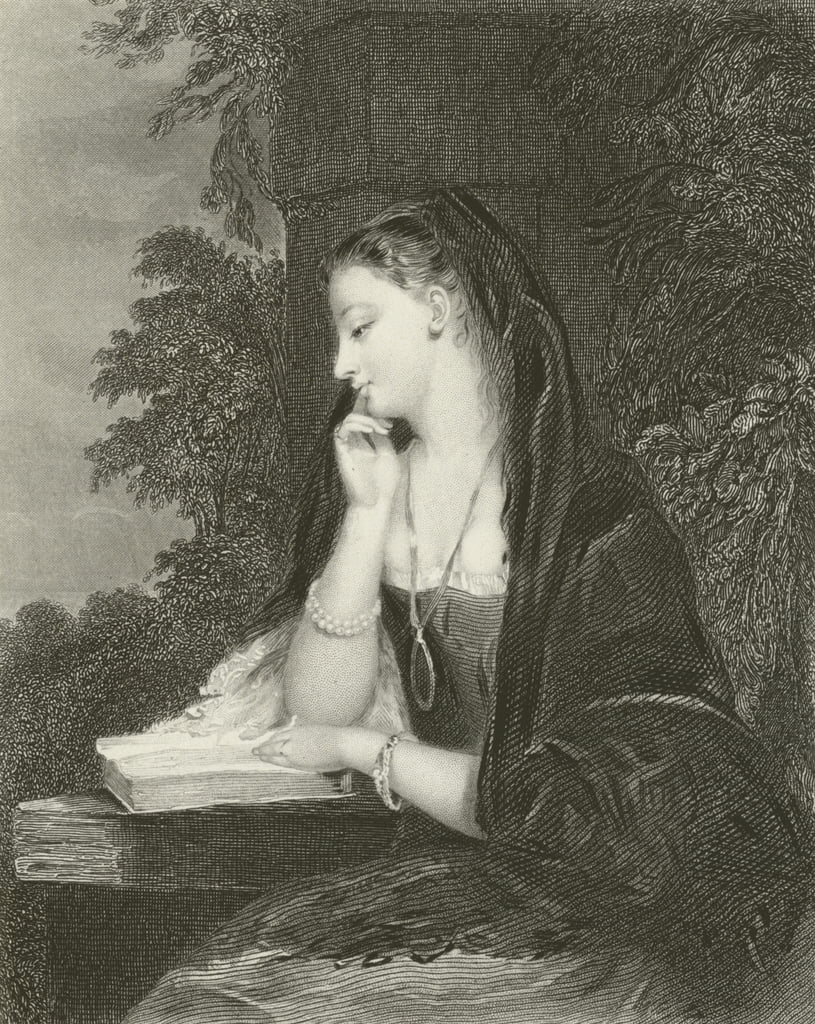Maiden Meditation  by Gilbert Stuart Newton