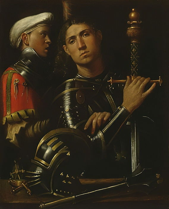 A Warrior and his Squire  by Giorgione da Castelfranco