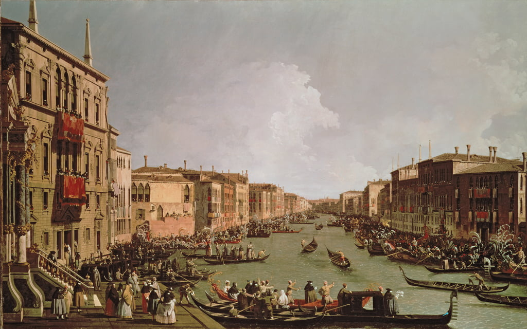A Regatta on the Grand Canal, c.1735  by Giovanni Antonio Canal