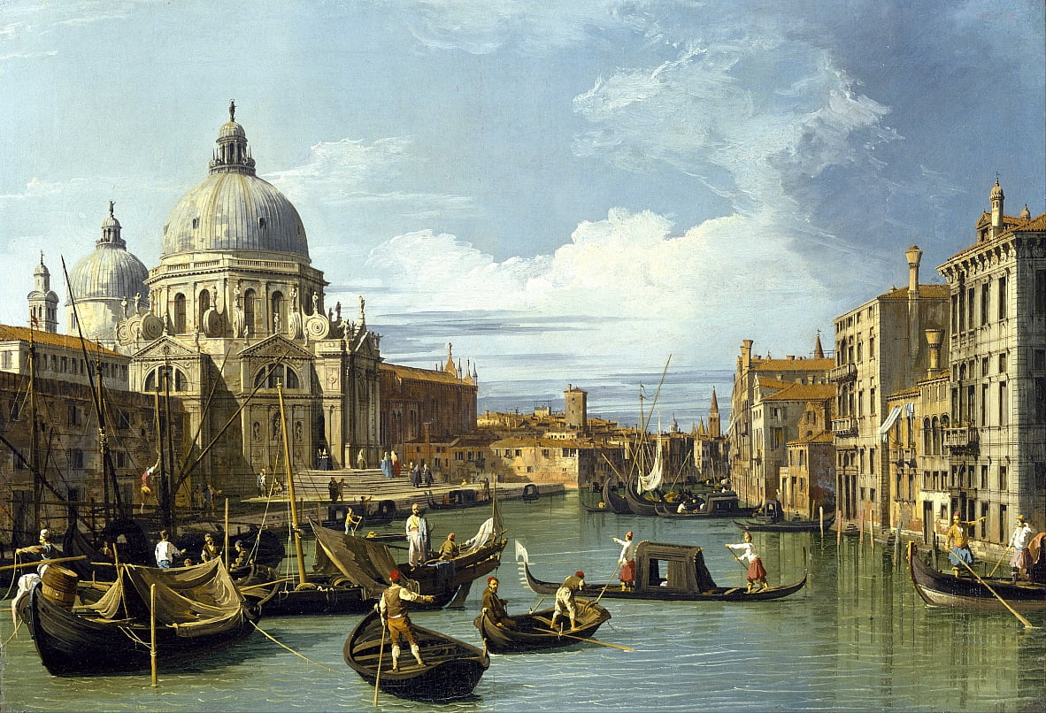 The Entrance to the Grand Canal, Venice by Giovanni Antonio Canal
