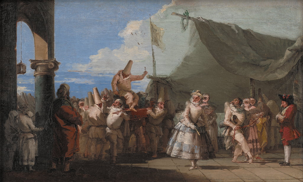 The Triumph of Pulcinella, 1753-54  by Giovanni Battista Tiepolo