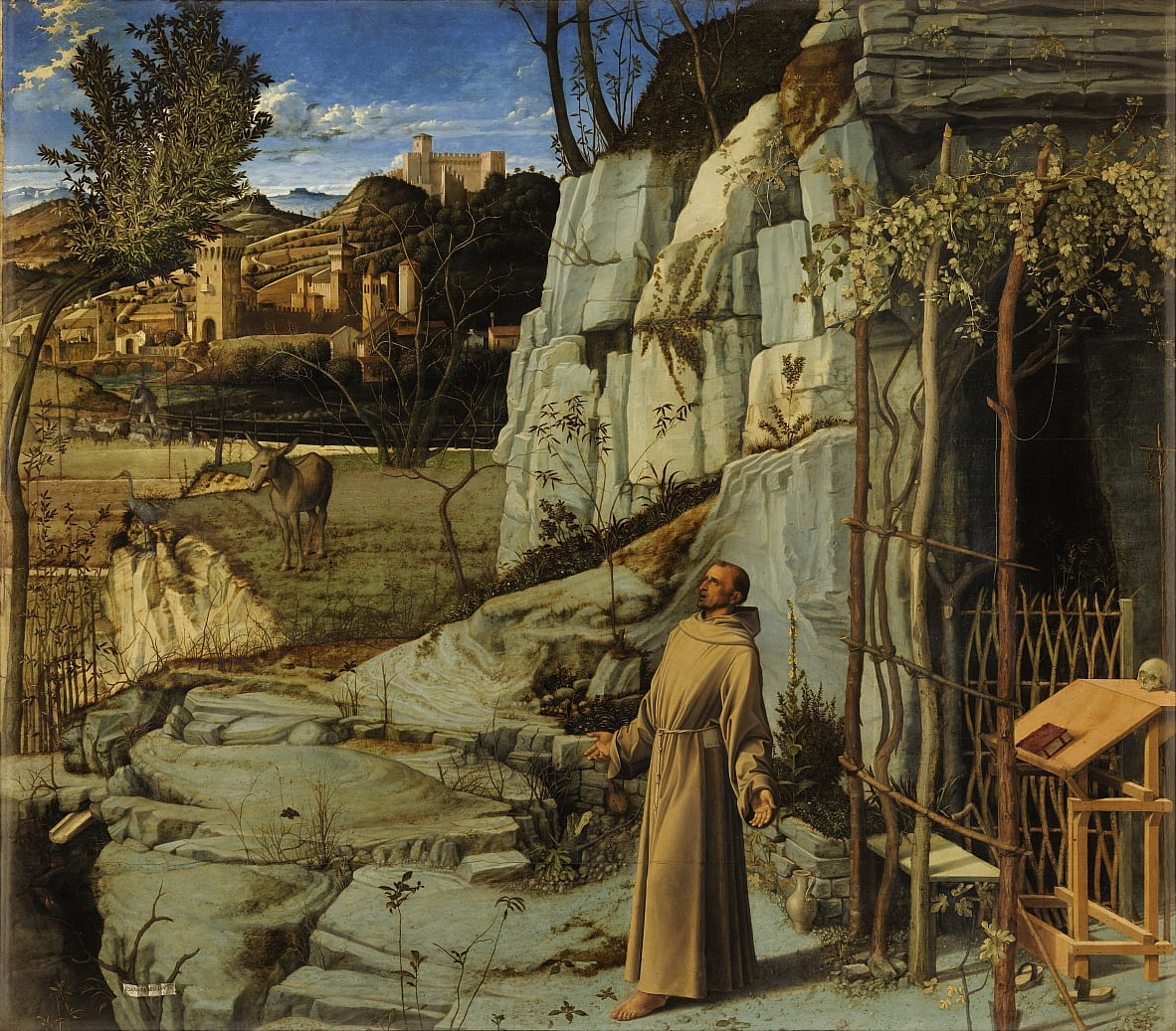 Saint Francis in the Desert by Giovanni Bellini