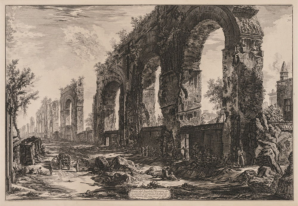 Views of Rome: The Aquaduct of Nero, 1775.  by Giovanni Battista Piranesi