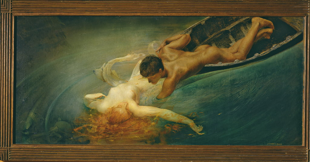 The Siren (Green Abyss) 1893  by Giulio Aristide Sartorio