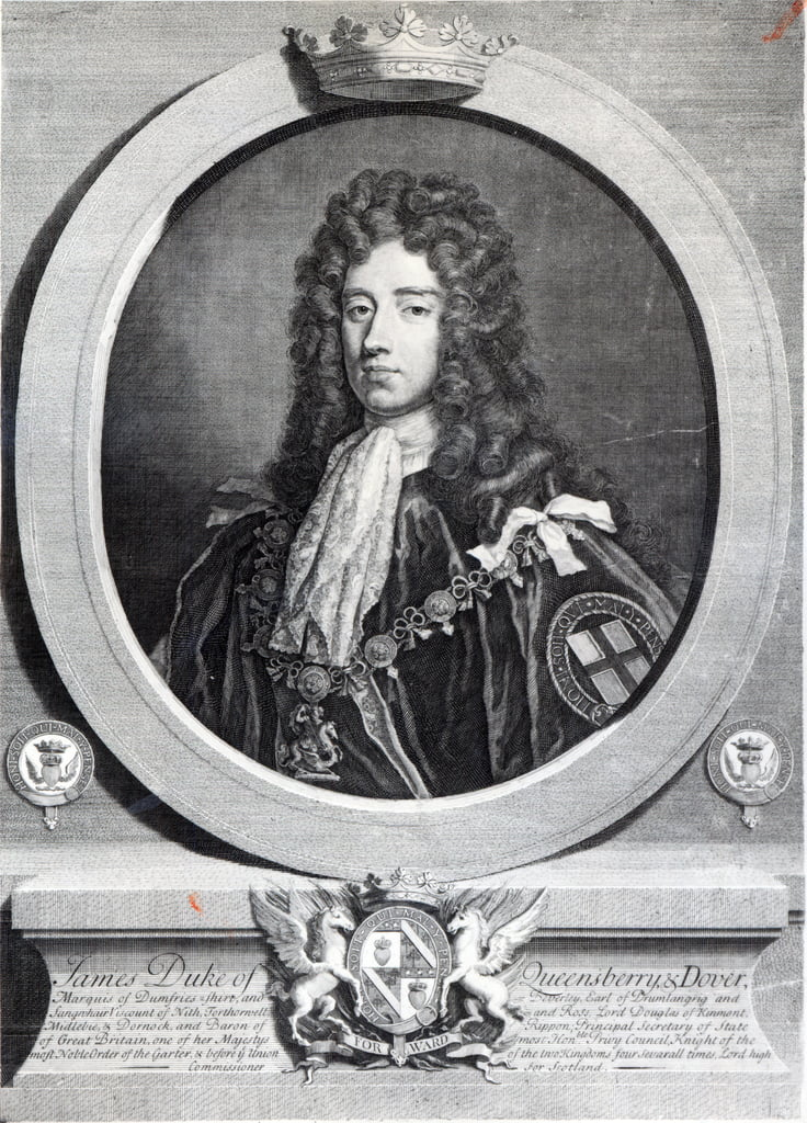 James Douglas, 2nd Duke of Queensberry, engraved by Louis du Guernier II  by Godfrey Kneller
