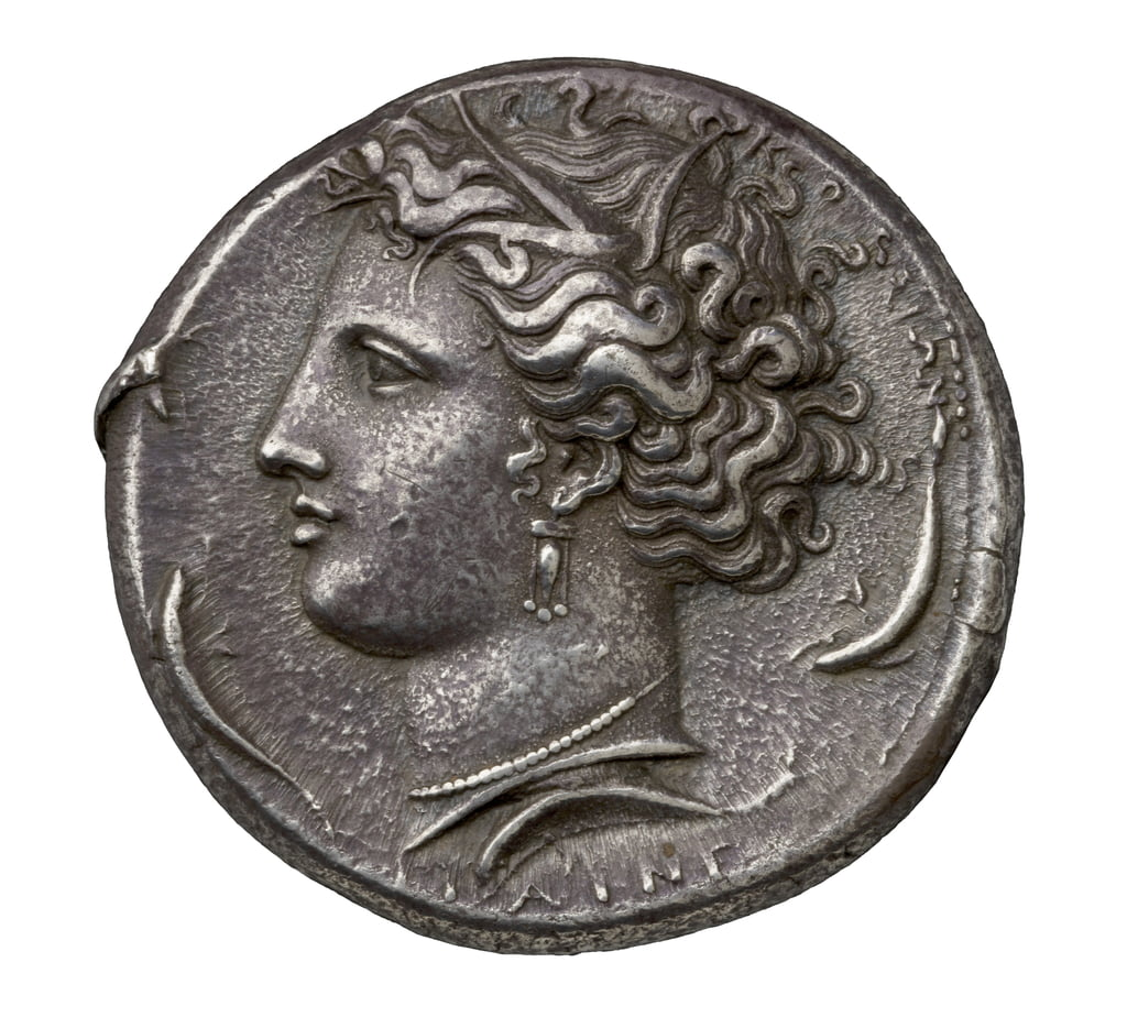 Ancient Greek silver coin from Syracuse, 404-390 BC (silver) by Greek