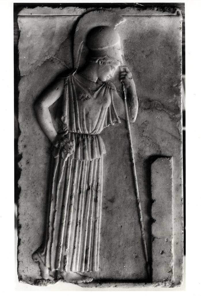 Relief of the Mourning Athena, c.460 (marble)  by Greek