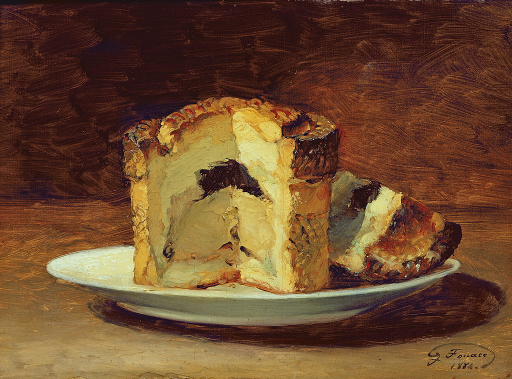 Still life of pie, 1884  by Guillaume Romain Fouace