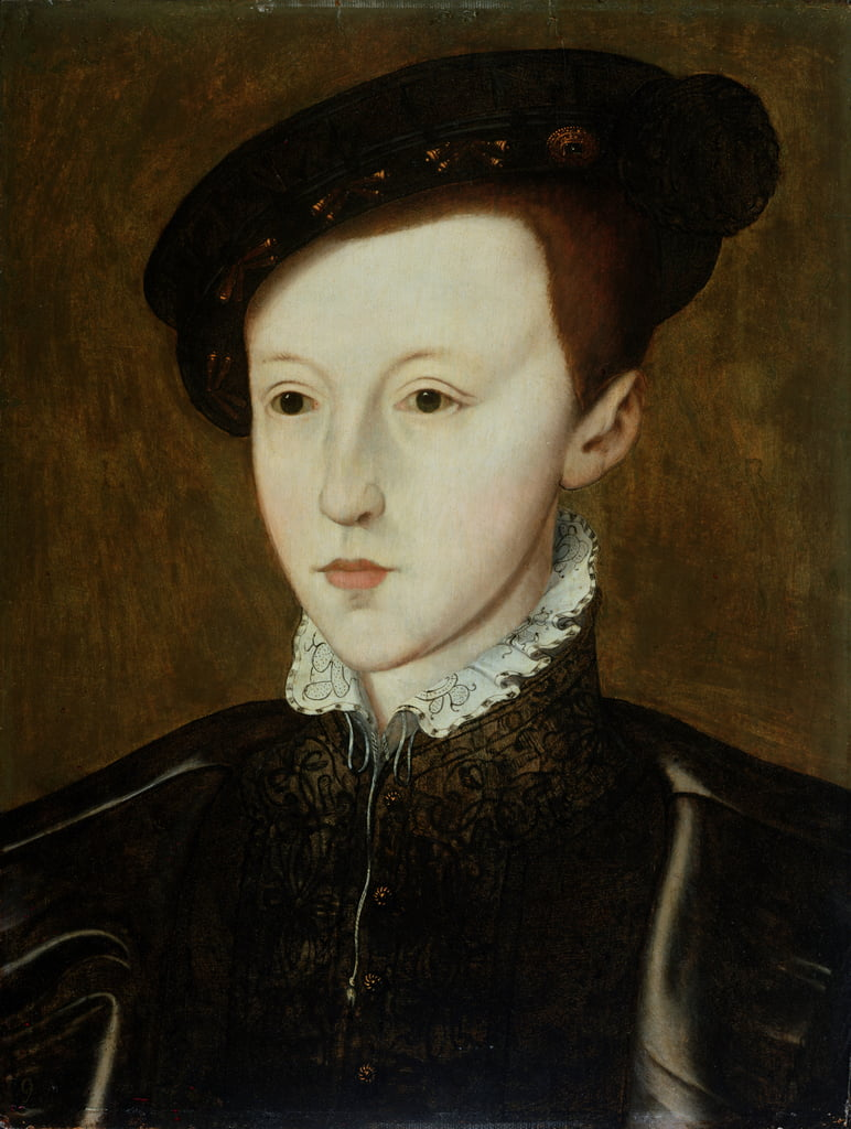 Portrait of Edward VI (1537-53)  by Guillaume Scrots