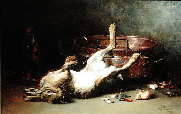 Still Life with a Hare and a Cauldron, 1886  by Guillaume Romain Fouace