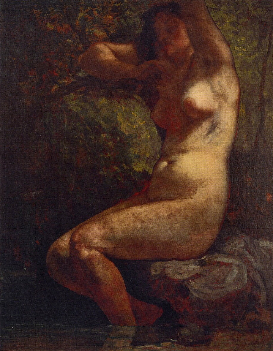 Baigneuse by Gustave Courbet