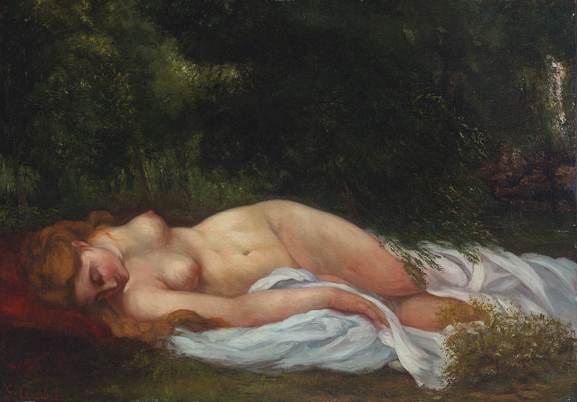 Nu Couché by Gustave Courbet