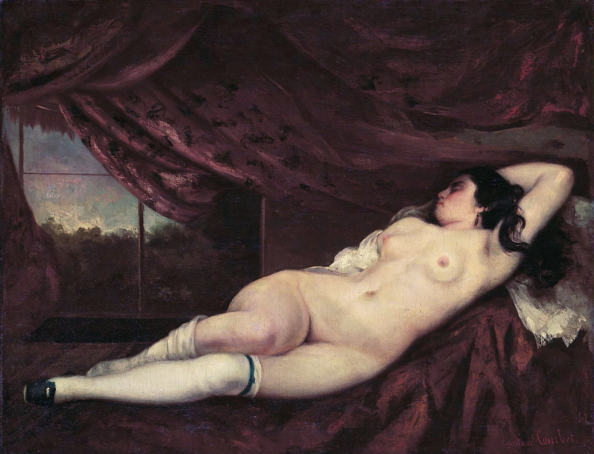 Nude Reclining Woman by Gustave Courbet