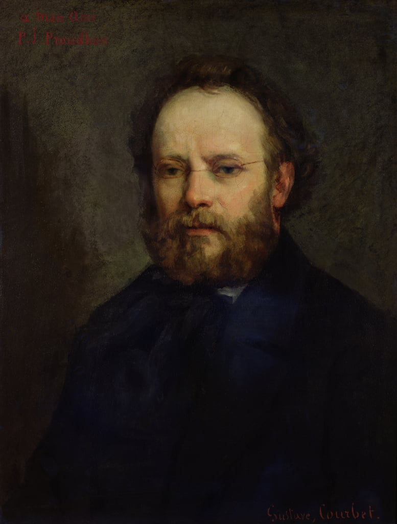 Portrait of Pierre Joseph Proudhon (1809-65) 1865  by Gustave Courbet