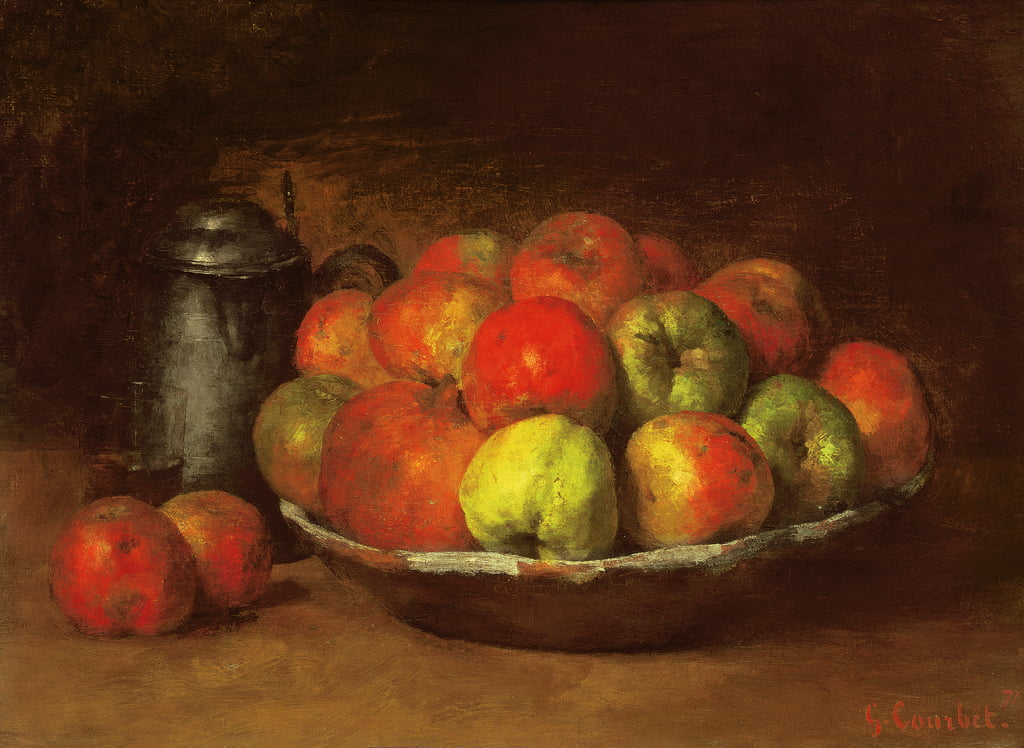 Still Life with Apples and a Pomegranate, 1871-72  by Gustave Courbet