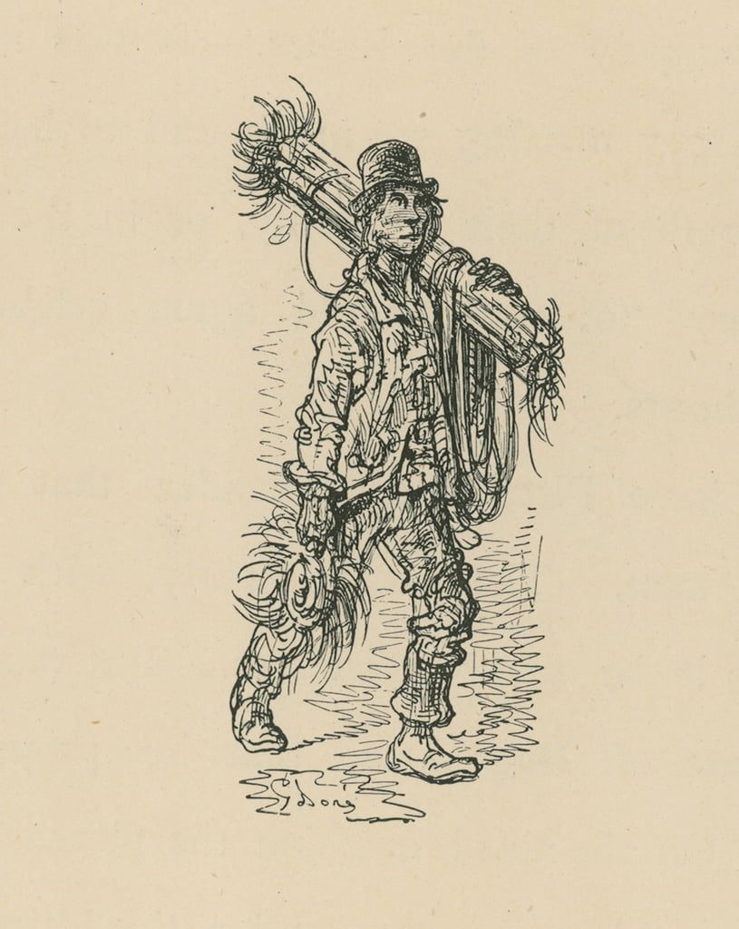 A Chimney Sweep  by Gustave Dore