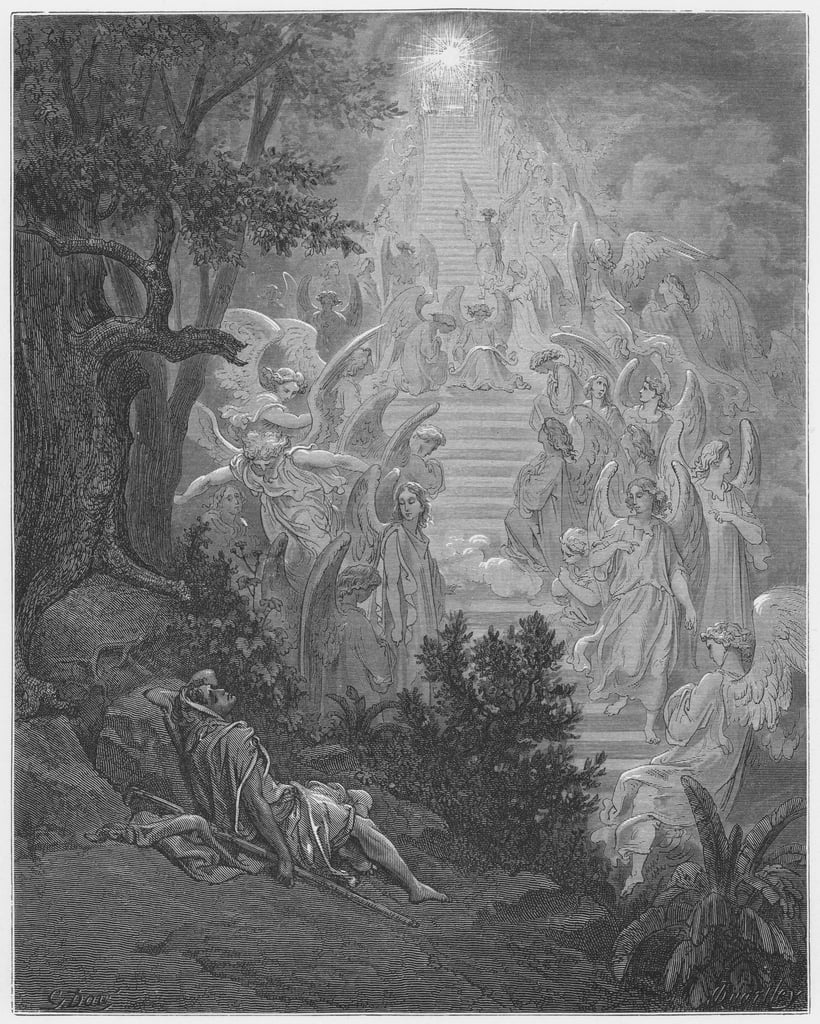 Gustave Dore Bible: Jacobs dream  by Gustave Dore