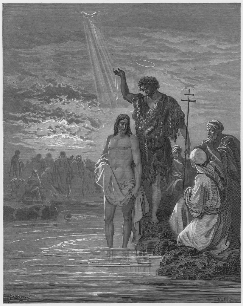 Gustave Dore Bible: The baptism of Jesus  by Gustave Dore