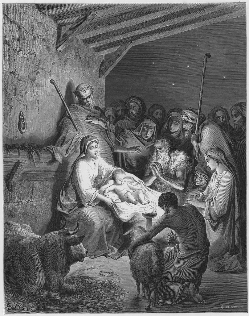 Gustave Dore Bible: The nativity  by Gustave Dore