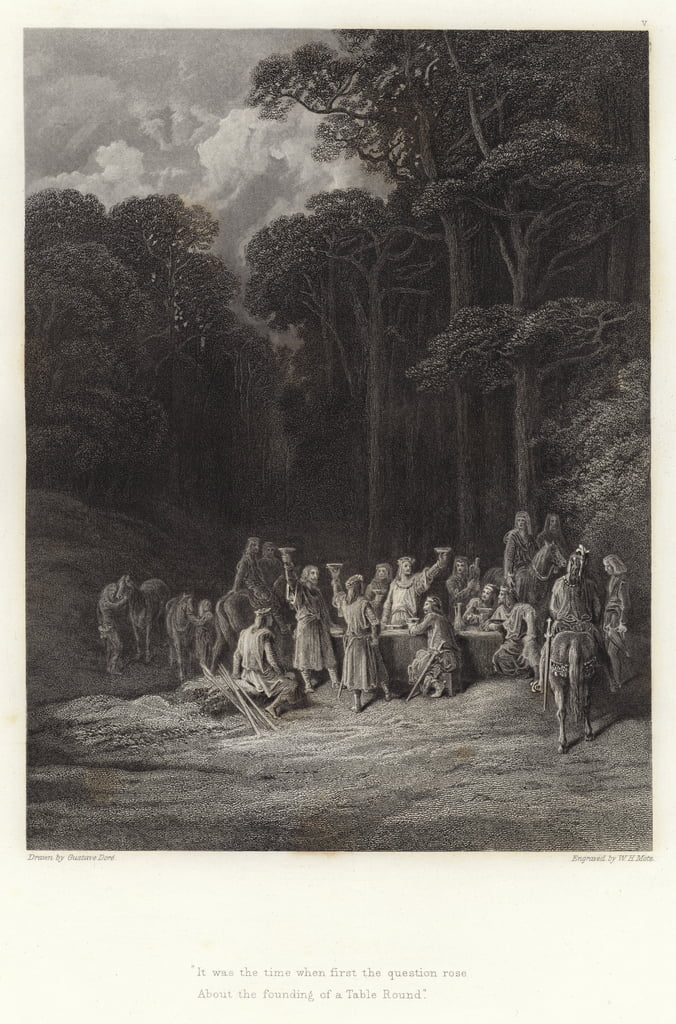 Illustration for Vivien by Alfred Tennyson  by Gustave Dore