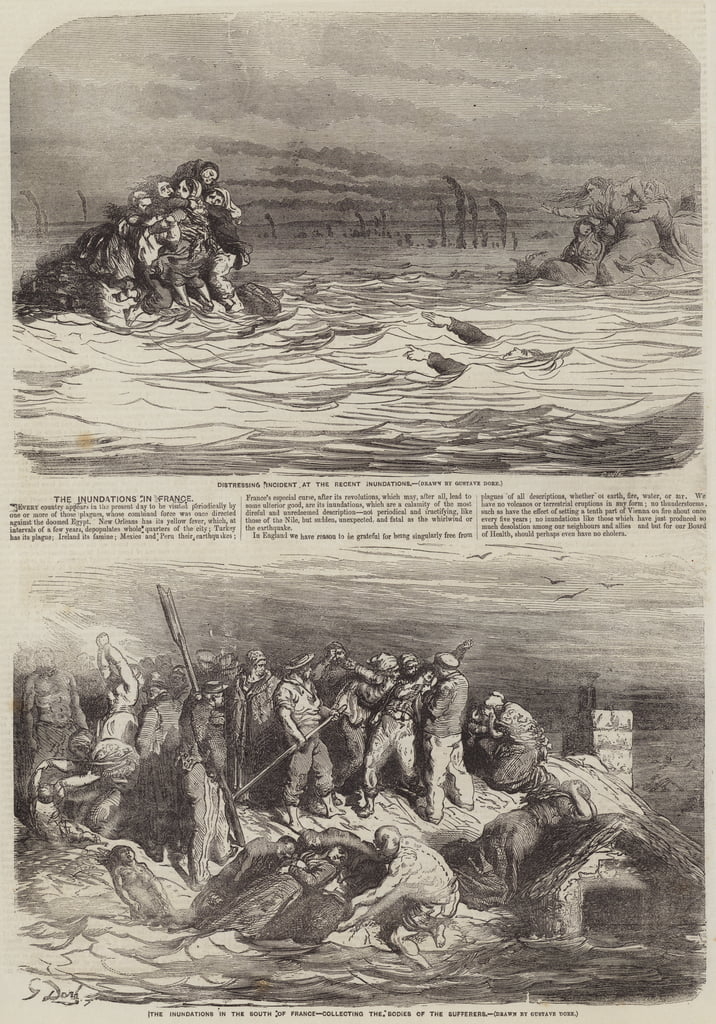 The Inundations in France  by Gustave Dore