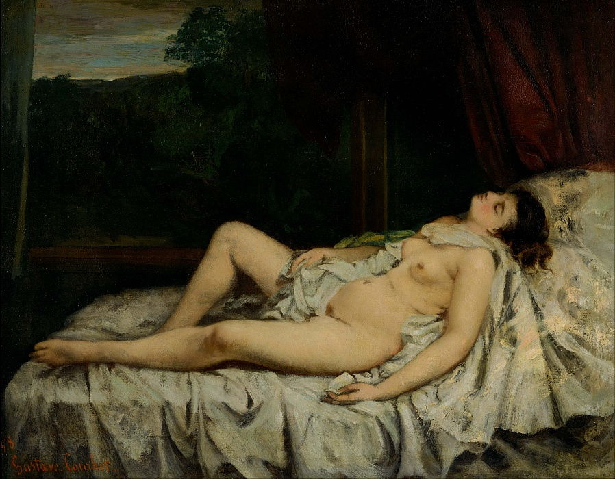 Sleeping Nude by Gustave Courbet