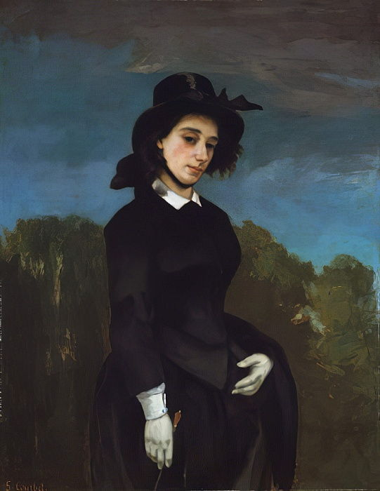 Woman in a Riding Habit (LAmazone), 1856  by Gustave Courbet