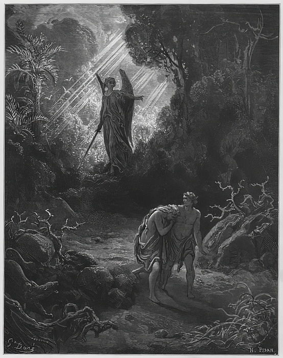 Gustave Dore Bible: Adam and Eve driven out of Eden by Gustave Dore