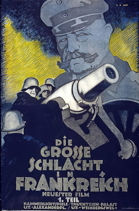Advertisement for Part I, Die grosse Schlacht in Frankreich, pub. c.1918  by Hans Rudi Erdt