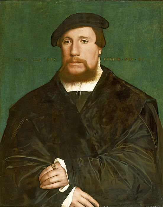 Portrait of a Hanseatic Merchant, 1538  by Hans Holbein the Younger