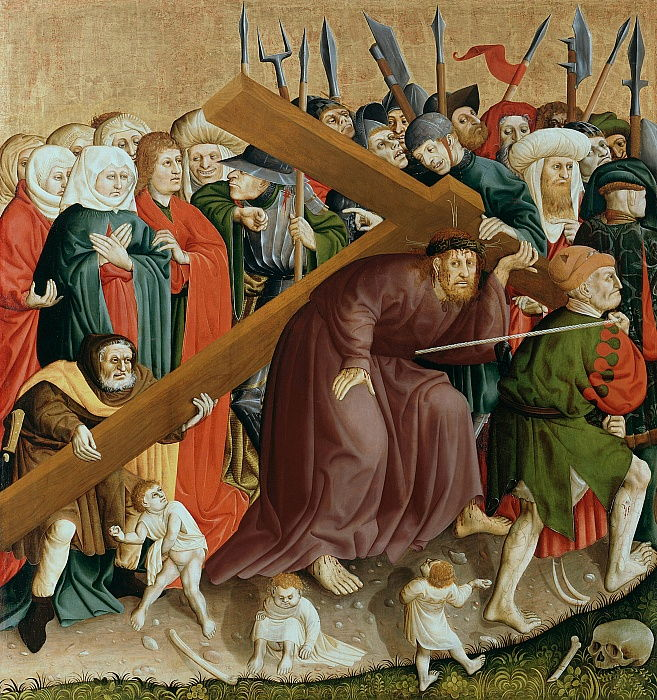 Christ carrying the Cross. The Wings of the Wurzach Altar, 1437 by Hans Multscher