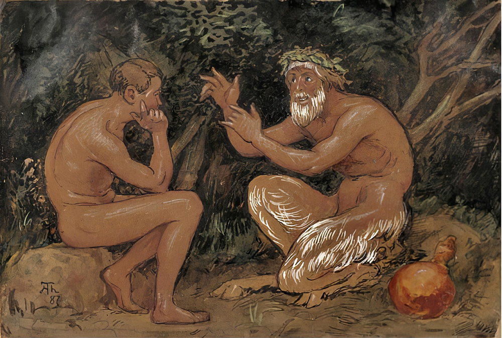 Faun and Youth 1 by Hans Thoma