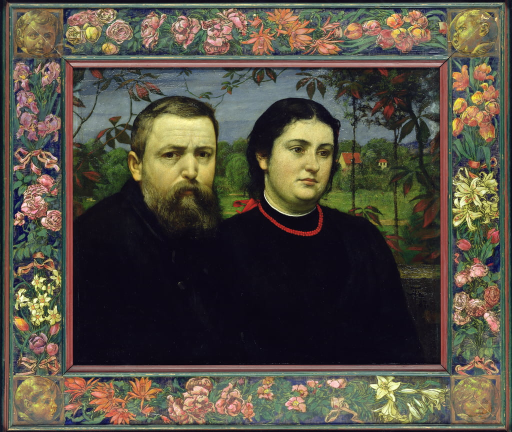 The Artist with his Wife Bonicella, 1887  by Hans Thoma