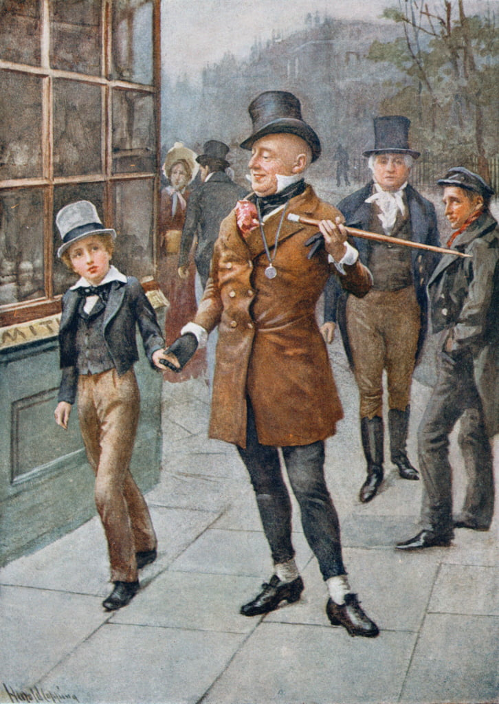 Mr Micawber Conducts David Home, illustration from