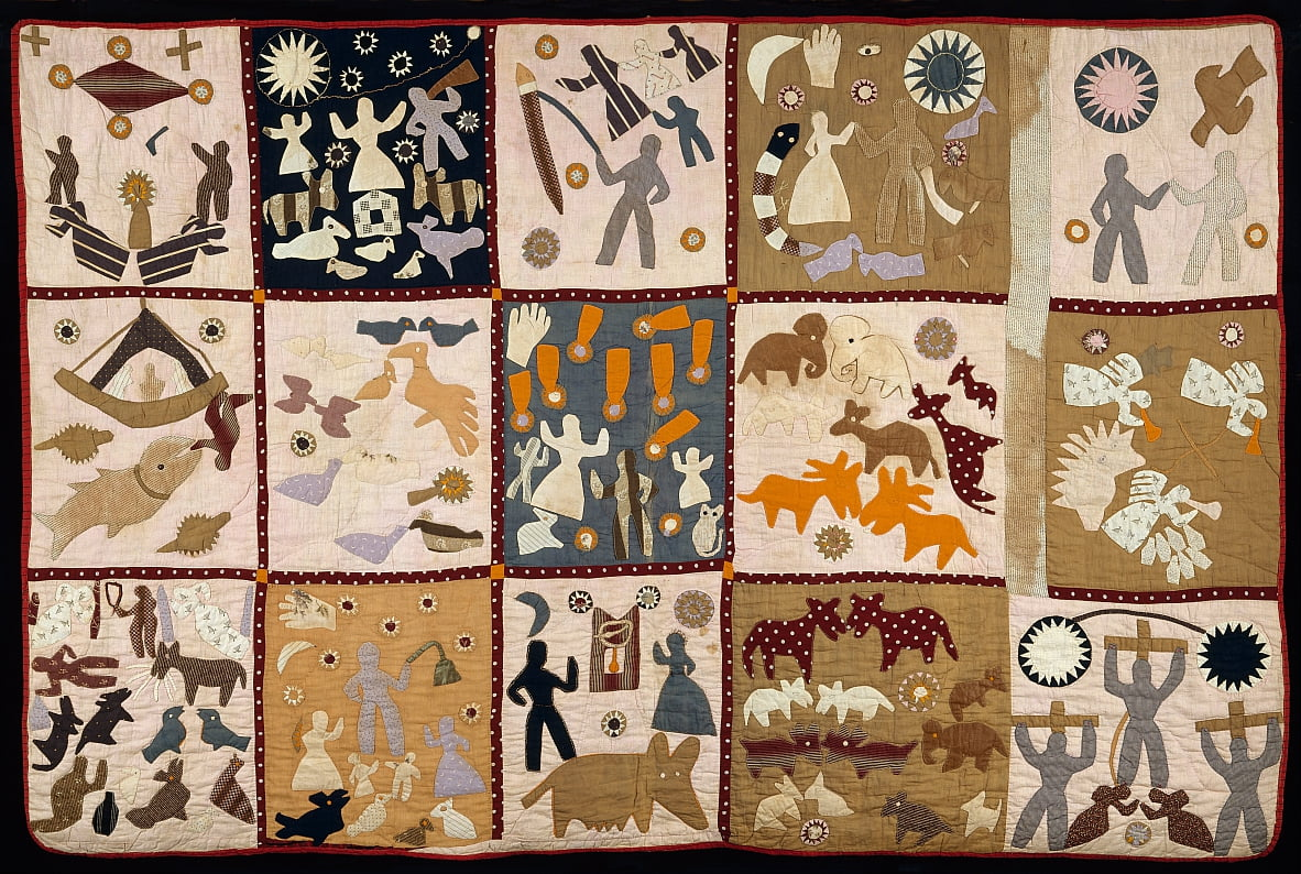 Pictorial quilt by Harriet Powers