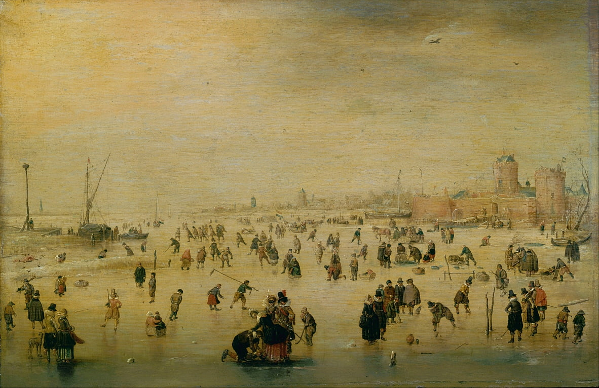 Skating Scene by Hendrick Avercamp