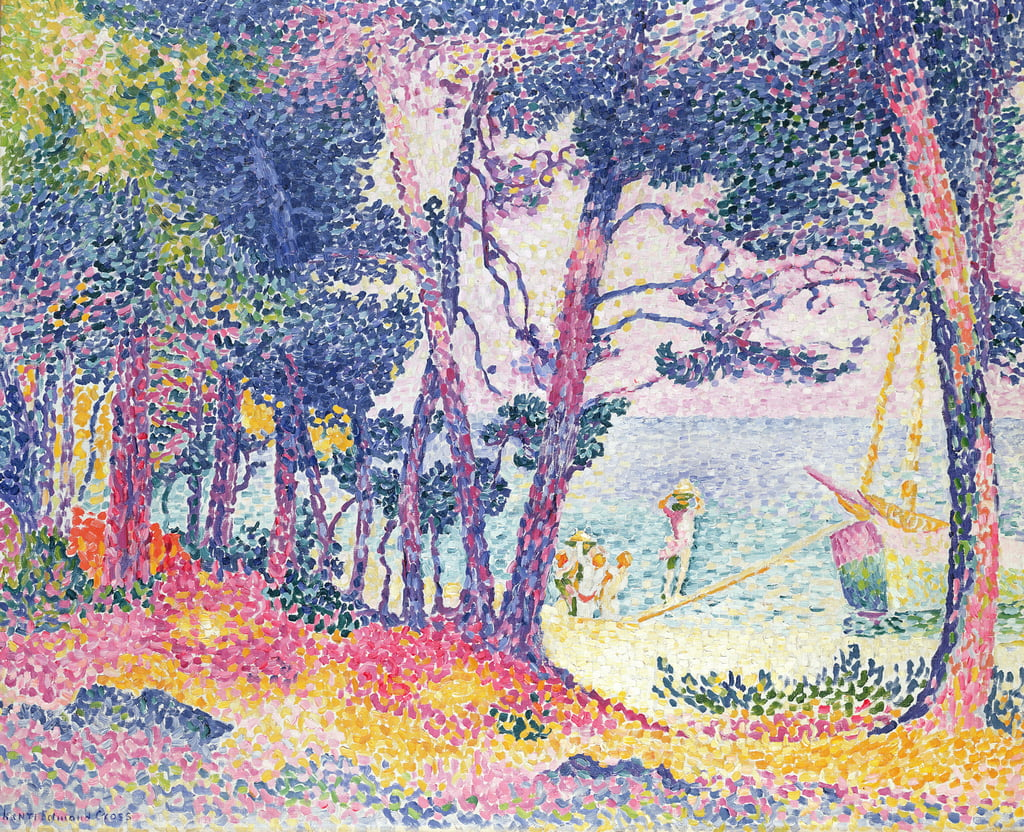 A Pine Grove, 1906 by Henri Edmond Cross