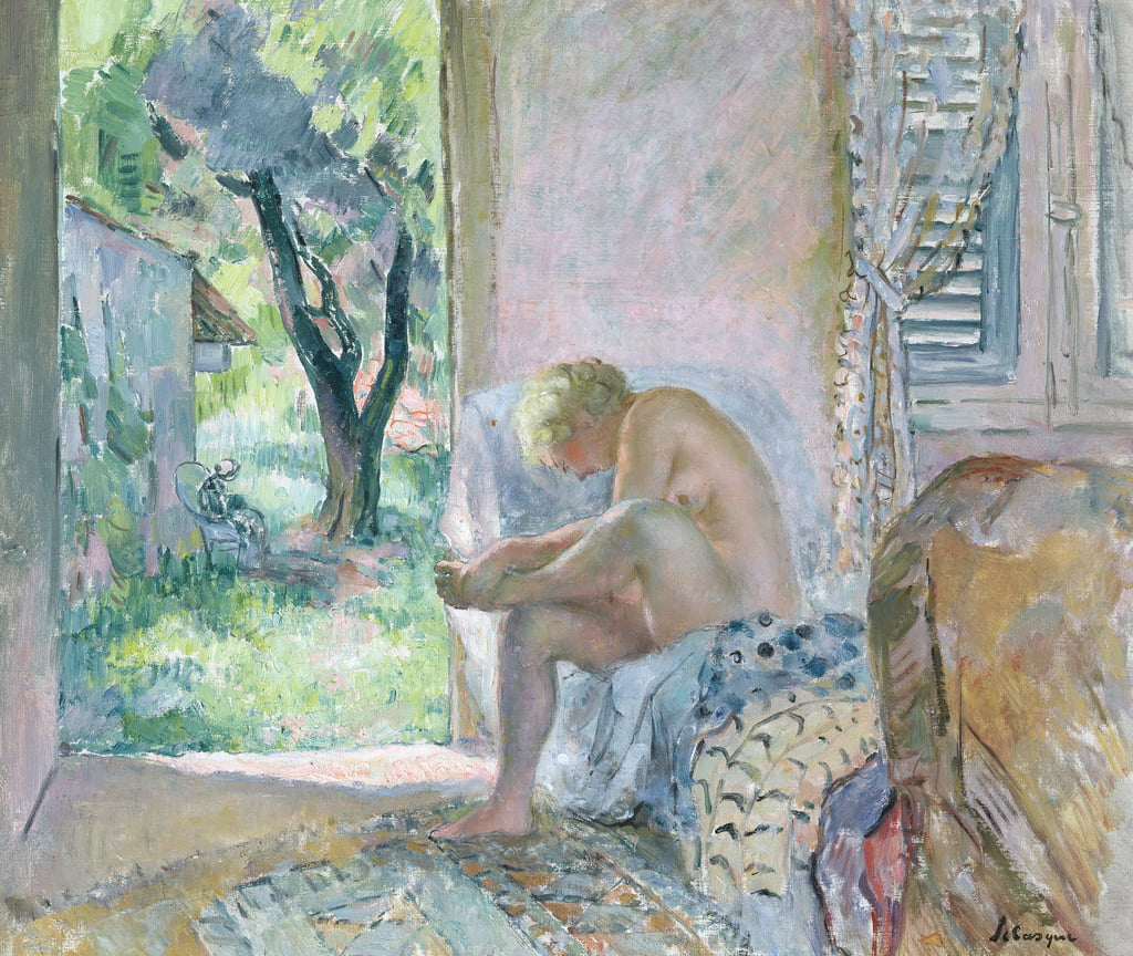 Intimacy, or Waking Up  by Henri Lebasque