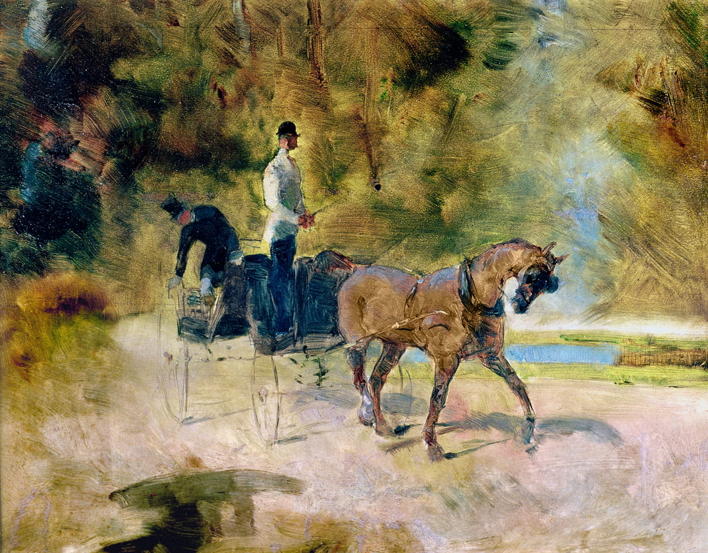 A Dog-Cart, 1880  by Henri de Toulouse Lautrec