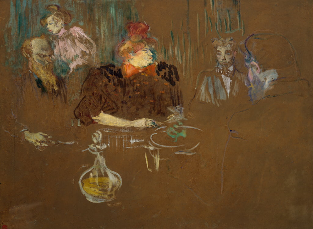At the Table of Monsieur and Madame Natanson, 1898  by Henri de Toulouse Lautrec