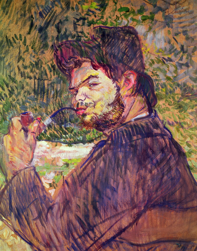 Portrait of Cipa Godebski, 1896 (oil on cardboard) by Henri de Toulouse Lautrec