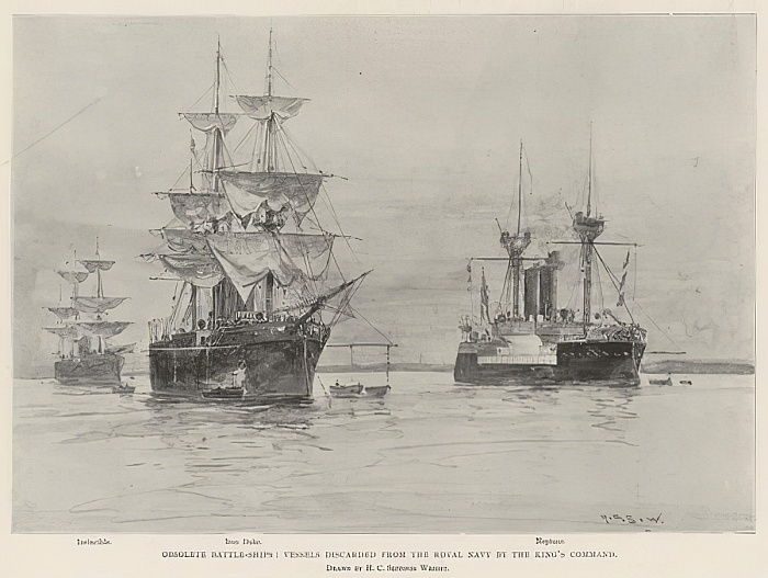 Obsolete Battle-Ships, Vessels discarded from the Royal Navy by the King