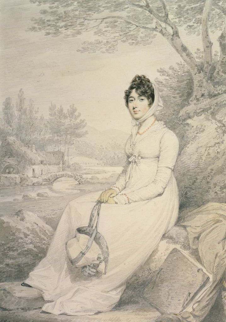 Portrait of a Lady, 1806 (pencil und wash with colour chalks on paper) by Henry Edridge