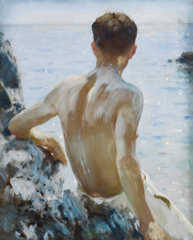 Beach Study by Henry Scott Tuke