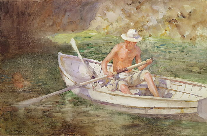 Green Waters, 1911  by Henry Scott Tuke