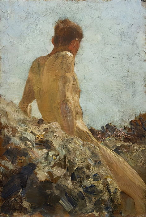 Nude Study  by Henry Scott Tuke