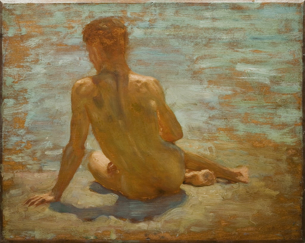 Sketch of Nude Youth (Study for Morning Splendour), c.1921  by Henry Scott Tuke