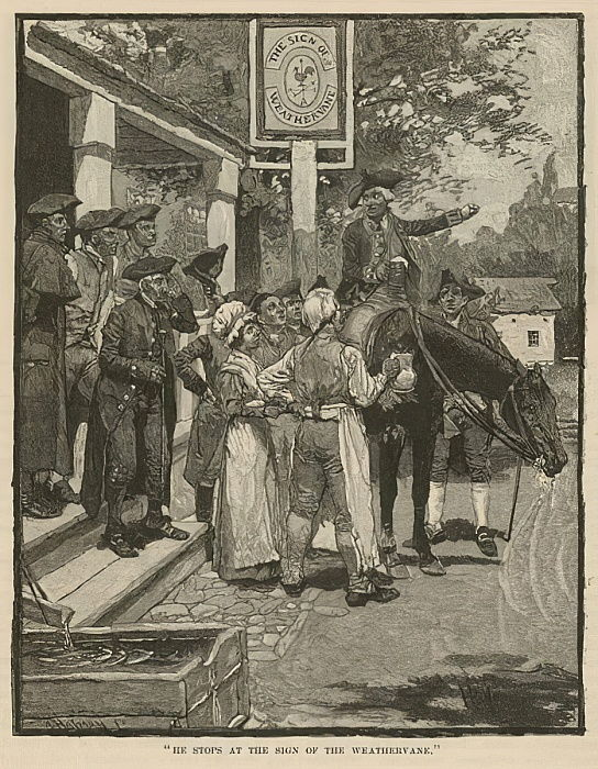 He stops at the Sign of the Weathervane  by Howard Pyle